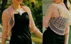 Free Lacy Crochet Shrug Patterns | Crochet Sweater: Bolero Shrug - Lace crochet Shrug For Summer