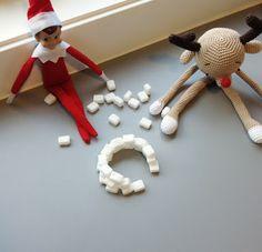 Elf on the shelf ideas - sugar cube igloo