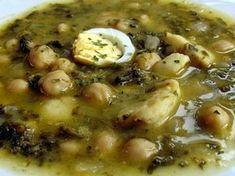Falsarius Chef: POTAJE DE VIGILIA Spanish Food, Omelette, Churros, Flan, Cheeseburger Chowder, Mexican Food Recipes, Stew, Potatoes, Chicken