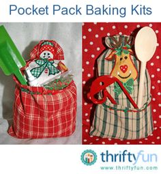 A dish towel, spoon, sprinkles, and a purchased (or homemade) cookie or cake mix is just about all you need to make the fun Pocket Pack baking kits for the whole family to enjoy. And there is no sewing or gluing!