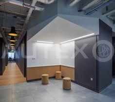 Autex Acoustics - Cube™ - Havas Media London, UK - Colours: Empire - Direct Fix to Wall - Modern Office Space