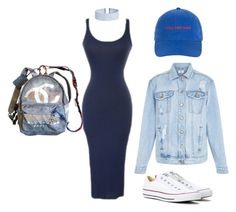 """blues"" by alexannaloro on Polyvore featuring New Look, Converse, ASOS and Chanel"