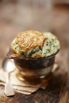 Spinach and Cheese Souffles (sdg)