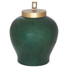"15"" Melrose Jar, Emerald"