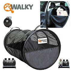 Walky cat Tube, Car Kennel Crate, Automotive cat Containment Barrier Kennel, Soft cat Crate, Large, 47' L x 24' Round * For more information, visit now : Cat Cages, Carrier and Strollers