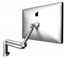 """I like the idea of having one or two of these on the desk. The Mantis 30 with a 27"""" iMac computer mounted with a MacHead."""