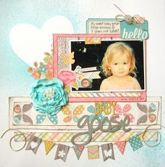 Happy Memorial Day weekend!  I'm popping on this morning to share another page I made using the May Main Kit from My Creative Scrapbook .  I...
