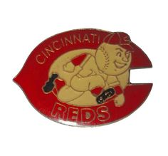 """CINCINNATI REDS Logo Baseball Cap mlb vintage enamel pin badge OHIO Oh by VintageTrafficUSA  14.00 USD  A vintage Cincinnati pin! Excellent condition. Measures: approx 1"""" These rare pins are proven to win you friends and influence people! Add inspiration to your handbag tie jacket backpack hat or wall. 20 years old hard to find vintage high-quality cloisonne lapel/pin. Beautiful die struck metal pin with colored glass enamel filling. -------------------------------------------- SECOND ITEM…"""