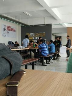 The atmosphere of canteen