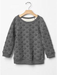 Jacquard dot raglan sweatshirt tunic   Gap