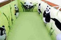 Handmade Nursery Handmade Crib Bumpers Bedsheet Toy Panda Bear Animal Linen Fleece Baby Decor -- Click image for more details.