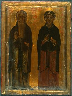 Arsenius and Macarius · The Sinai Icon Collection Icon Collection, Religious Icons, Byzantine, Images, Objects, The Originals, Painting, Saints, Art