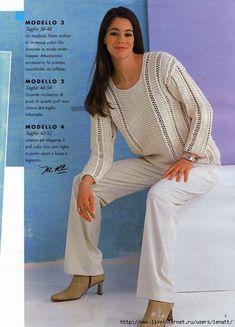 Спицы.Пуловер с ажурными полосами. Обсуждение на LiveInternet - Российский…