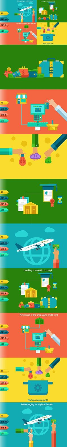 Business infographic : Set of business and starup concepts.. Travel Infographics. $7.00