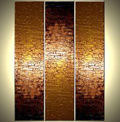 Original Large Textured Painting Contemporary Gold by Laffertyart. , via Etsy.
