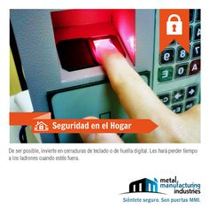 La #Seguridad en el Hogar es importante. De ser posible invierte en cerraduras de teclado o de huella digital. Les hará perder el tiempo a los ladrones cuando estés fuera de casa. ¡Buen día!