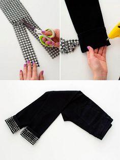 Kleidung Design, Diy Kleidung, Diy Jeans, Shirt Extender, Denim Fashion, Womens Fashion, Diy Tops, Pants For Women, Clothes For Women