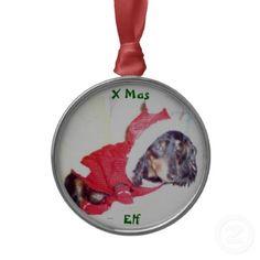 MERRY CHRISTMAS EVERONE FROM HEIDI PUP THE MINNY DASSY - BEST CHRISTMAS TREE ORNAMENTS - MINI DACHSHUND ELF