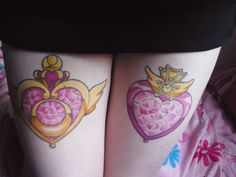 The one on the left is the sailormoon tattoo I shall be getting :3