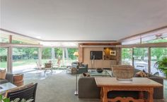 Spectacular Midcentury Modern, Designed by Harold Turner, Lists in Bloomfield Hills Bloomfield Hills, Organic Architecture, Midcentury Modern, Natural Materials, Mid Century, House Built, Lloyd Wright, Building, Lush