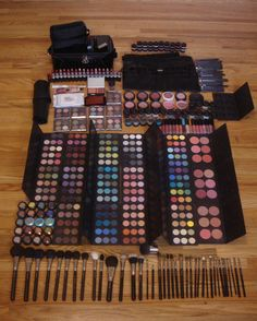 Amazing makeup collection! All MAC! @Marti Grizzle