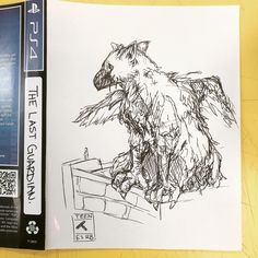 My 10 minute work doodle for The Last Guardian