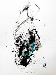 Mixed media art by Martin Kopejtko