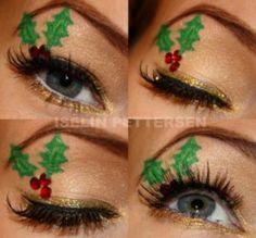 Mistletoe Makeup - 10 Stylishly FestiveChristmas Makeup Ideas