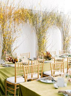 These are the best yellow wedding ideas. Ahead, discover how to incorporate the splashy hue into your wedding flowers, color palette, or décor. Reception Design, Wedding Reception Tables, Wedding Chairs, Wedding Cake, Wedding Ceremonies, Chic Wedding, Elegant Wedding, Wedding Bouquets, Wedding Flowers