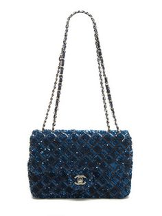 Chanel Midnight Blue Quilted Sequin Classic 2.55 Flap Bag