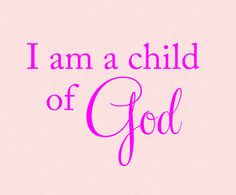 I am a child of God Vinyl Lettering Wall Decal by OZAVinylGraphics on Etsy