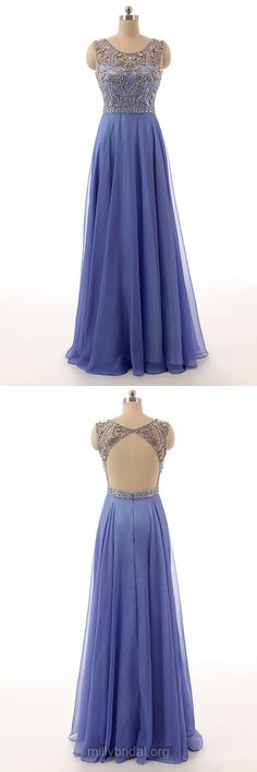 Long Prom Dresses, Blue Prom Dresses, Simple Prom Dresses,Modest Prom Dresses