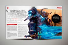 World of Warcraft Magazine on Behance cool 2-page spread