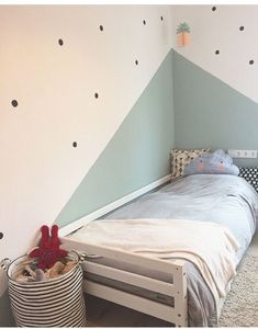 Wall design of a children's room. The post Wall design of a children's room. appeared first on kinderzimmer. Baby Room Design, Baby Room Decor, Wall Design, Bedroom Decor, Ikea Bedroom, Bedroom Furniture, Design Girl, Home Design, Interior Design