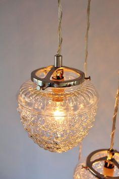 Vintage Hanging Light Hanging Lamp Glass Globe Chain