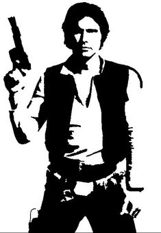 Star Wars Han Solo Die Cut Vinyl Decal for Windows, Vehicle Windows, Vehicle Body Surfaces or just about any surface that is smooth and clean Star Wars Silhouette, Silhouette Images, Star Wars Stencil, Skull Stencil, Anniversaire Star Wars, Images Disney, Star Wars Quotes, Star Wars Han Solo, Star Wars