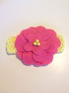 Infant Toddler Girls Yellow Flower Crochet Headband Hairpiece Hairbow Hair Accessories on Etsy, $7.00