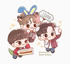 Chen #baekhyun #xiumin  #chenbaekxi #cbx #exo #kpop #music #corea #seoul #concert Baekhyun, K Pop, Exo Cartoon, Exo Stickers, Seoul, Exo Anime, Exo Fan Art, Xiuchen, Bts And Exo