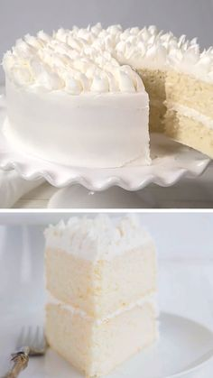 A WASC cake is a white cake recipe that is semi-homemade. It is the best white cake recipe with sour cream that bakers love because it tastes so good and holds up very well to decorating and fondant. Cake Recipe With Sour Cream, Best White Cake Recipe, Sour Cream Cake, Italian Almond Cream Cake Recipe, White Cake Recipe No Butter, Cream For Cake, Bakery White Cake Recipe, Vanilla Dream Cake Recipe, White Sponge Cake Recipe