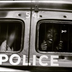 "More from #MoCPat40: Danny Lyon, ""Atlanta, police car window,"" 1963 #Celebrating40years"