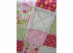 Cute rag quilt via madlywish on Etsy