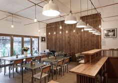 Trade Cafe in London by Twist-in-Architecture, Exposed Copper Pipes, Brick Walls | Remodelista