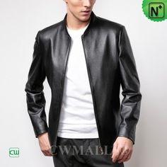 Slim Leather Jacket Mens CW806046 m.cwmalls.com