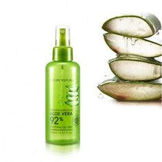 Nature Republic - Aloe Vera 92% Soothing Gel Mist | 10 Korean Skin Care Products to Add to Your Beauty Regimen, check it out at http://makeuptutorials.com/korean-skin-care-products/