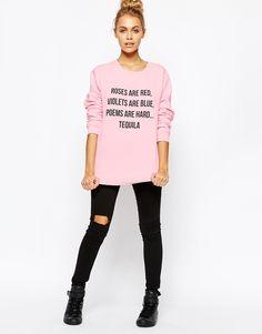 Image 4 ofAdolescent Clothing Boyfriend Sweatshirt With Valentine's Poem Print