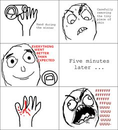 Rage Comics: My hands during the winter