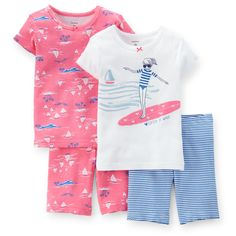 4-Piece Snug Fit Cotton PJs | Carters.com