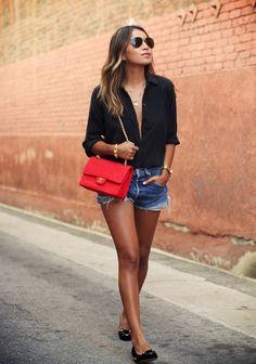 Camisa negra + slippers