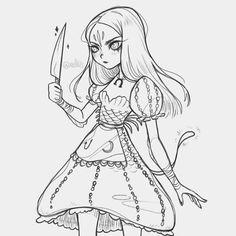 Adventure Time Oc, Alice Liddell, Alice Madness Returns, Indie Games, Fire Emblem, Aesthetic Art, Alice In Wonderland, Underwater, Character Art