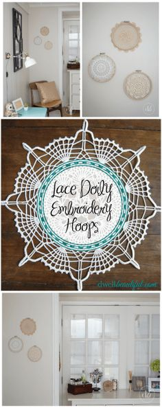 Lace Doily Embroidery Hoops - Dwell Beautiful